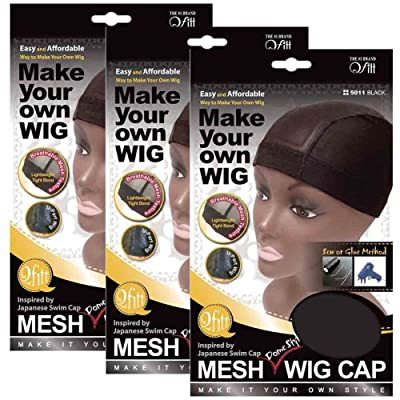 (3 Pack) Qfitt Mesh Dome Style Wig Cap #5011