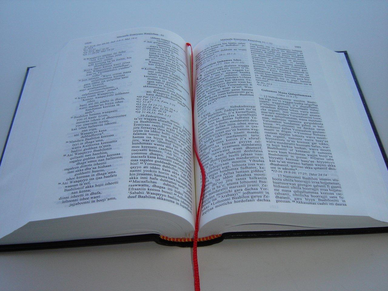 Bible in Oromo Language / Macaafa Qulqulluu / Affan Oromoo / Hiikan