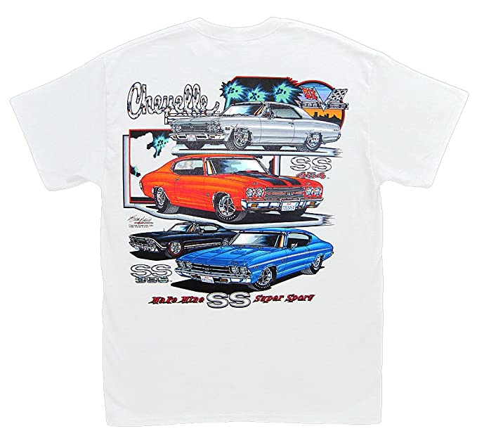 2a5583bfc Amazon.com: Hot Shirts Make Mine SS Chevelle T-Shirt: Chevrolet Chevy Malibu  SS396 SS454 1966 1968 1969 1970: Clothing