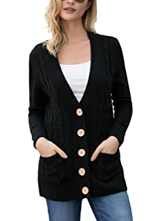 Astylish Women Open Front Long Sleeve Chunky Knit Cardigan Sweaters Loose  Outwear Coat S-XXL d3b906575