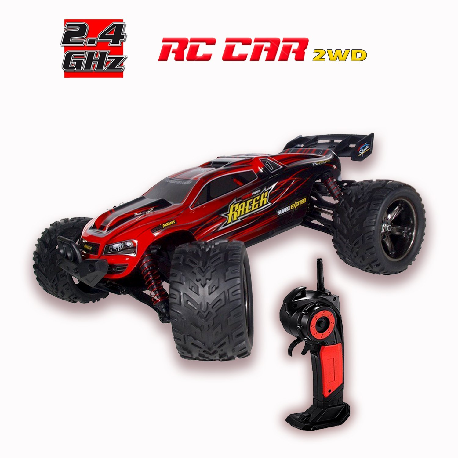 Amazon GoStock 1 12 Scale 2 4Ghz 2WD Radio Controlled RC Drift Cars Red Toys & Games