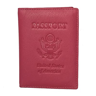 60%OFF Leather U.S. Passport Cover Wallet in Fuchsia by Grey & Orr