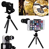 Renyke Universal 8X Zoom Mobile Phone Telescope Lens with Tripod Stand for Smartphone 6,6S (Multi-Color) … (1year Warranty)