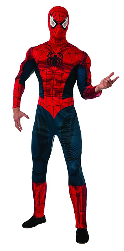 amazoncom rubies costume mens marvel universe adult deluxe spiderman costume clothing
