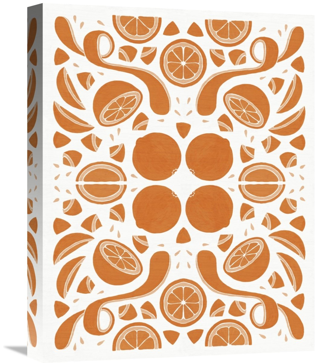 Global Gallery Elyse DeNeige Retro Orange Otomi Monotone Canvas Artwork 16 x 20
