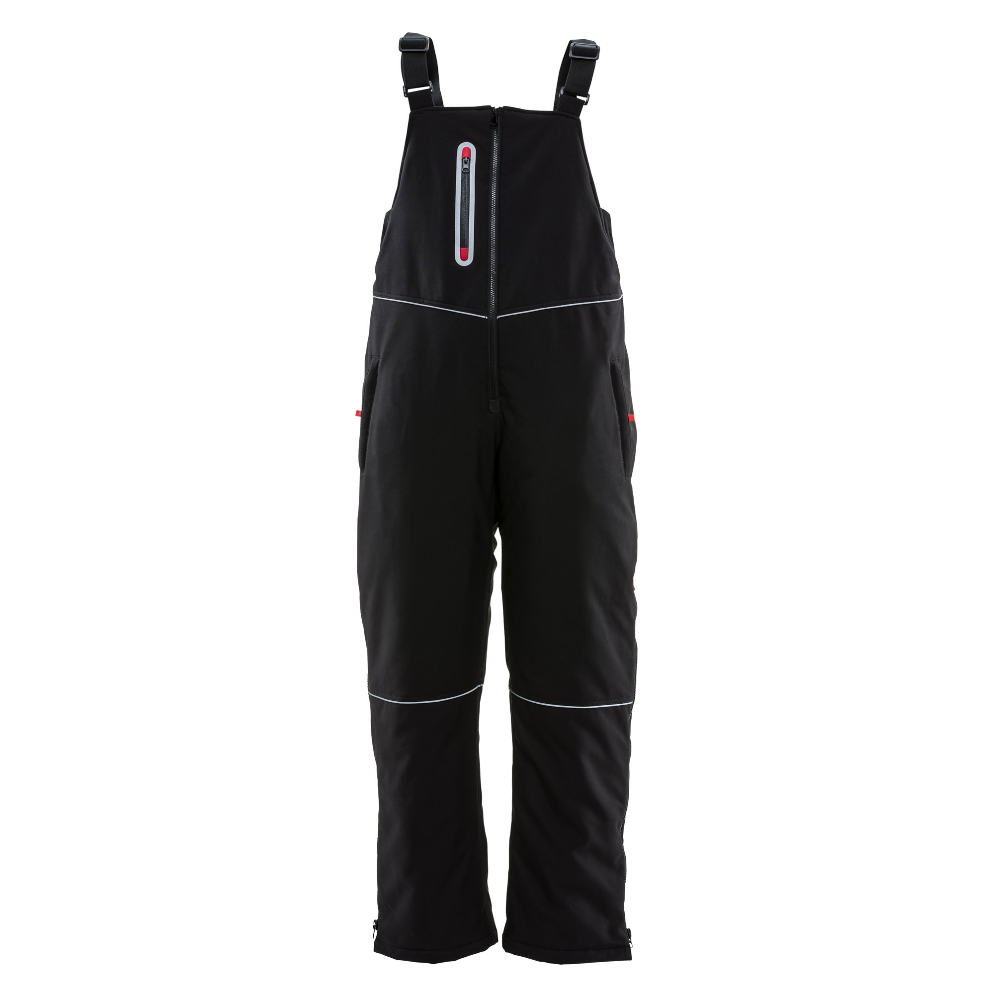 Refrigiwear Women's Insulated Softshell Bib Overalls, Large