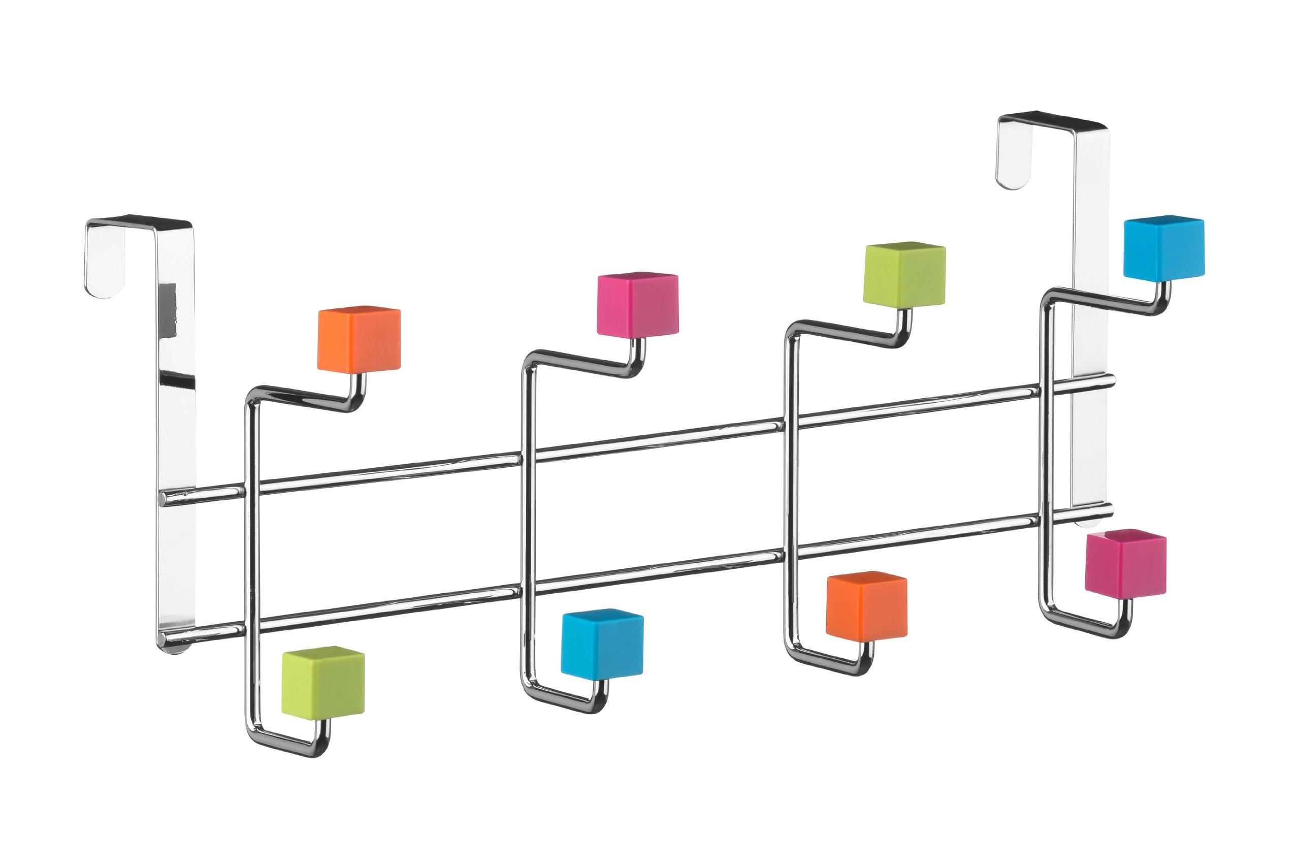 Premier Housewares 8 Hook Door Hanger - Multi-Coloured