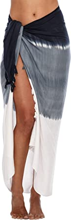 UMIPUBO Womens Cover up Wrap Beach Wrap Sarong Pareo Cover Up Swimsuit Wrap Beach Cover Up Semi-Sheer Swimwear Cover Ups Short Skirt with Tassels