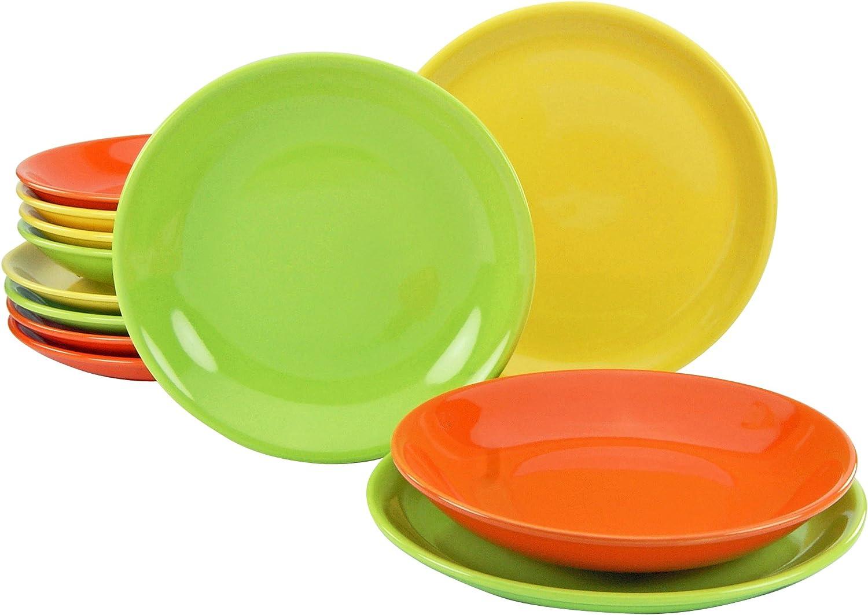 Creatable 14434 Top Spring 12tlg tellerset œ ASSIETTE assiettes à soupe vaisselle