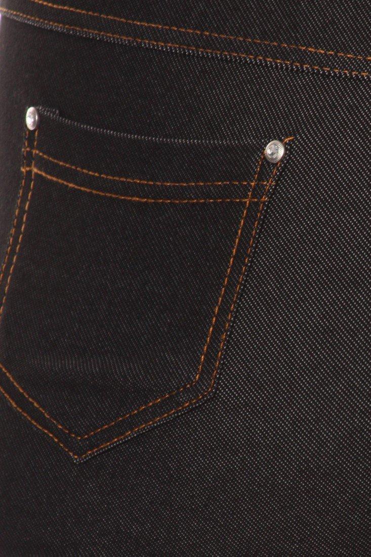 ICONOFLASH Women's Jeggings - Pull On Slimming Cotton Jean Like Leggings (Black, 2XL) by ICONOFLASH (Image #5)