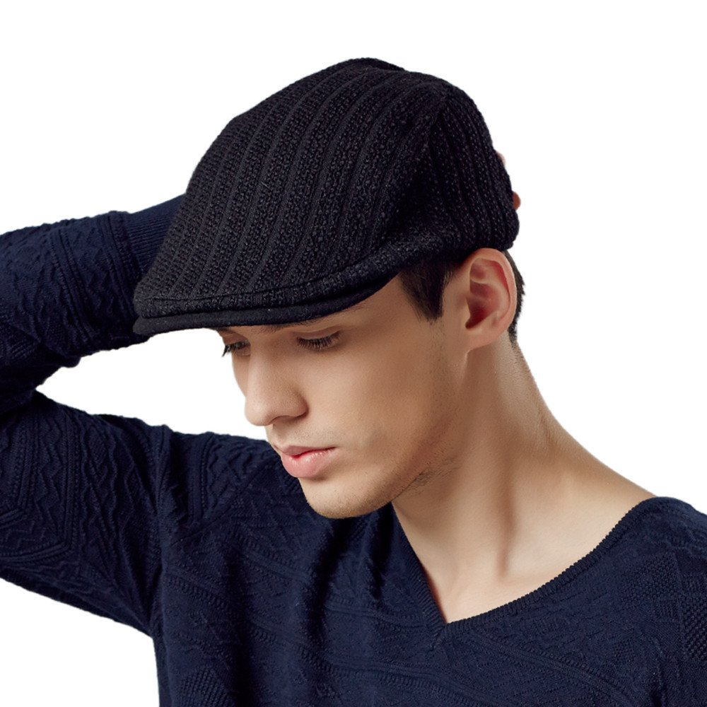 Kenmont Autumn Spring Mens Ivy Cap Knitted Newsboy Cabbie Visor Hat