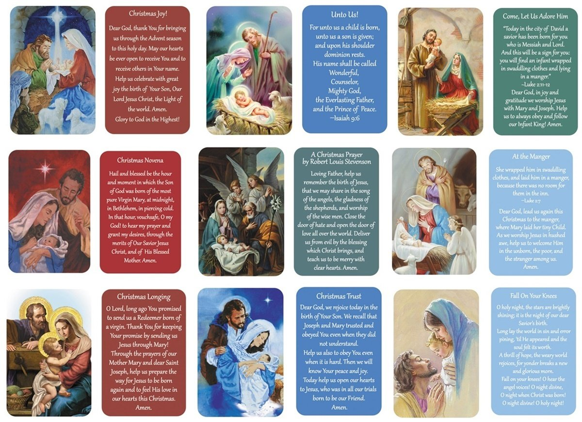Amazon.com : Nativity Wallet Holy Cards with Assorted Christmas ...