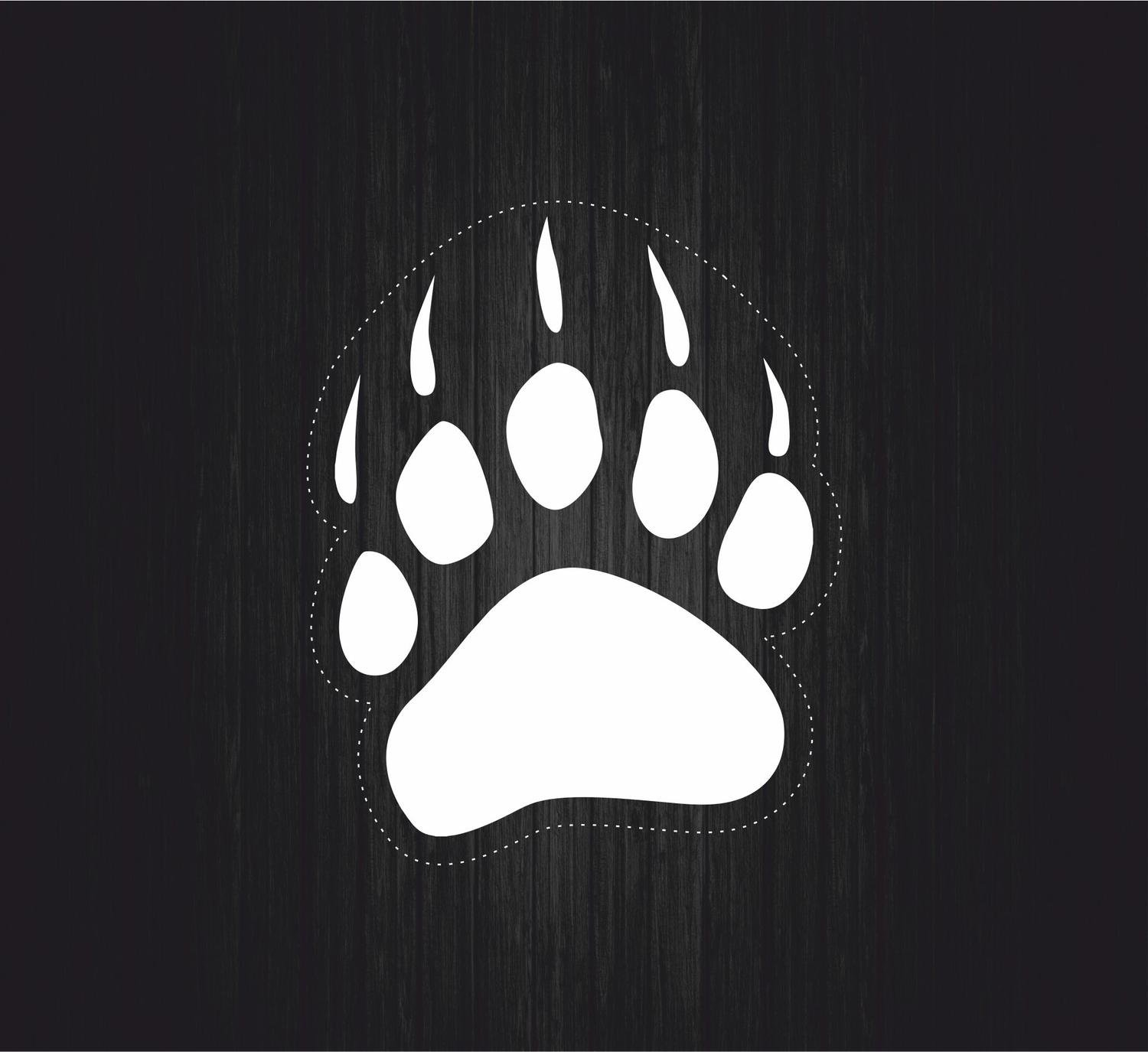 Akachafactory Autocollant Sticker Voiture Moto Tuning Patte Ours Panda Chien Chat r3