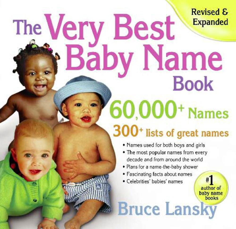 Amazon.com: The Very Best Baby Name Book: 60,000+ Names (9780684047034):  Bruce Lansky: Books