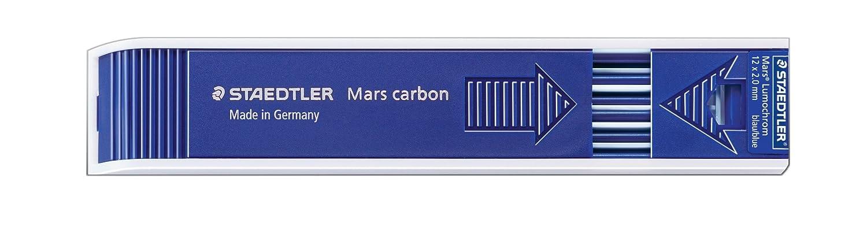 Staedtler Mars Carbon Lead, 2mm, Blue, 12 minas xam