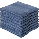 DOLOPL Dishcloths Dish Cloth 100% Cotton Navy Blue Dish Rags Set of 8 Absorbent Machine Washable Reusable Easy to Clean…