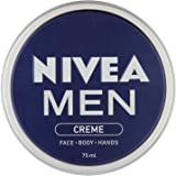 NIVEA MEN Creme, All Purpose Cream for Face, Body and Hands, 75 ml, Pack of 4