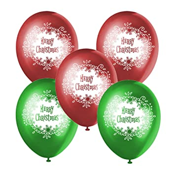 merry christmas balloons 2 xmas colors red green party decoration 40 - Why Are Red And Green Christmas Colors