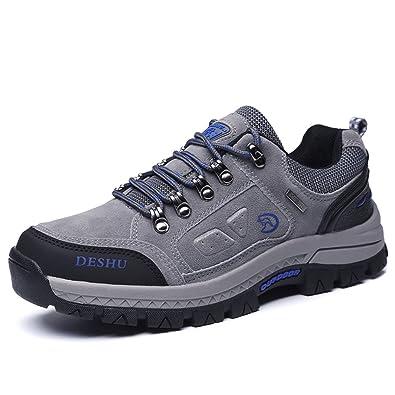 Zapatos de senderismo, Gracosy Impermeable Hombres zapatos de montaña para paseos Viajes Zapatillas de deporte