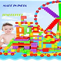 TENDERFEET Pack of 104 Blocks Stem Educational Kids Toys Building Block Colourful Toys for 2 3 4 5 Year Old Boy Girl Toddlers(Made in India)