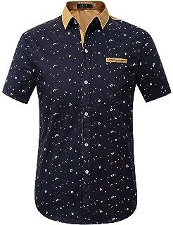 456ce3b731a Amazon.com  TOPORUS Men s Casual Short Sleeve Printing Pattern ...