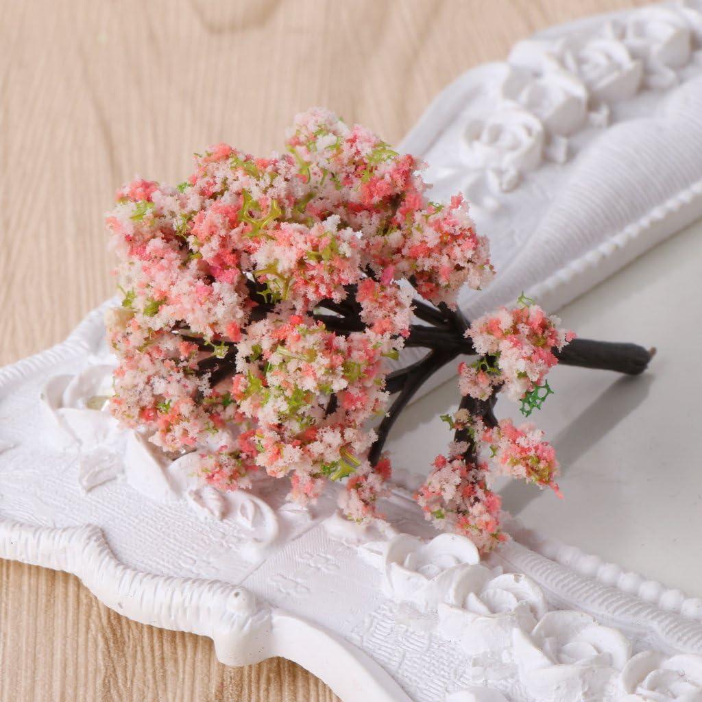 Miniature Ornement F/ée Jardin Lunji 5pcs Fleur Artificiel D/écoration de Table//No/ël