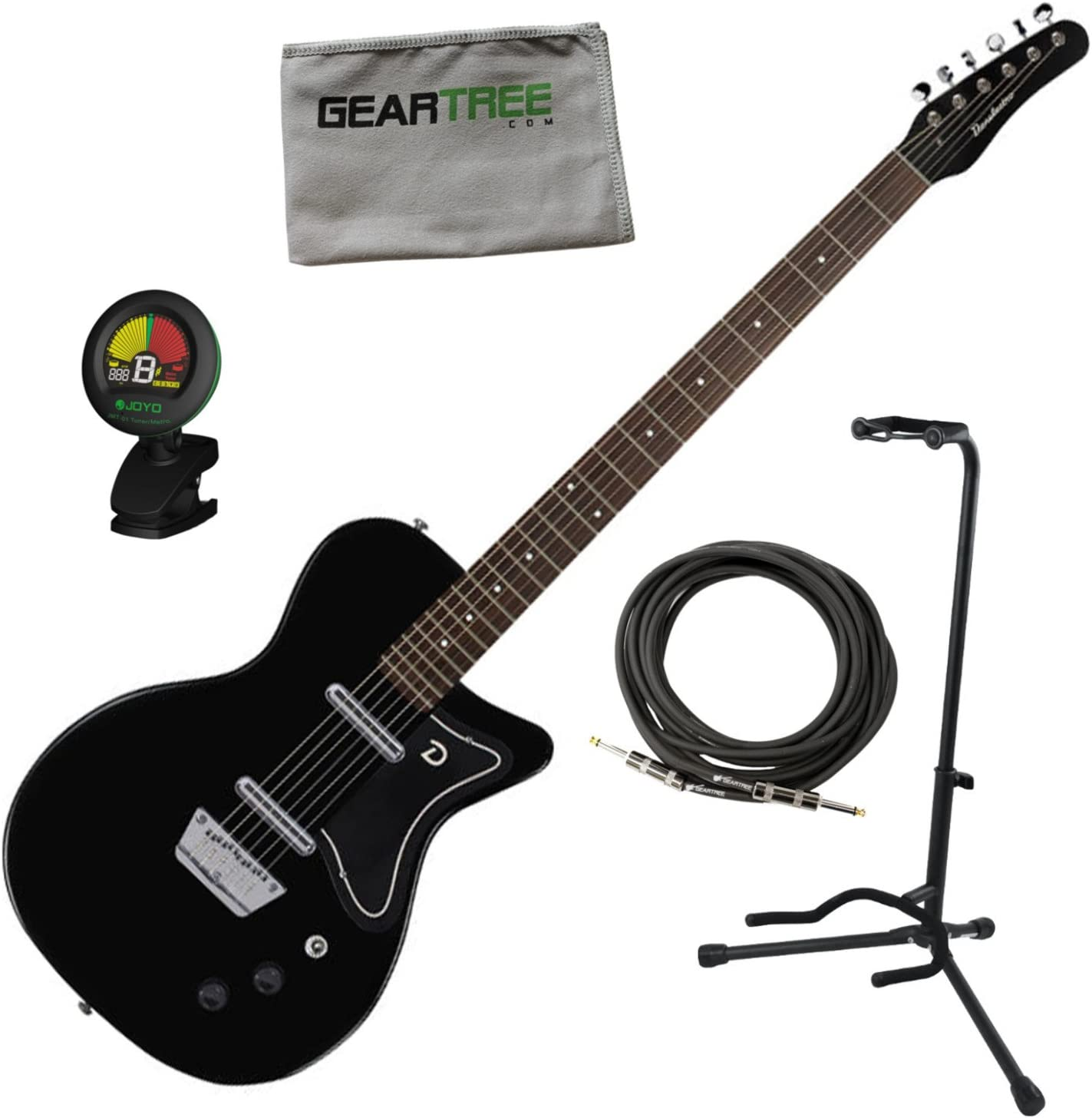 Danelectro 56 barítono guitarra eléctrica Negro w/soporte, Red ...
