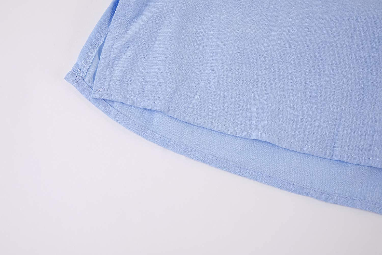 Pxmoda Leinenhemd Herren Henley Shirt Herren Freizeithemden Herren Kurzarm /& Langarm Hemd Herren Leinen Shirt