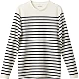 446acd1e1942e6 La Redoute Collections Mens Breton Striped Cotton T-Shirt White Size XL