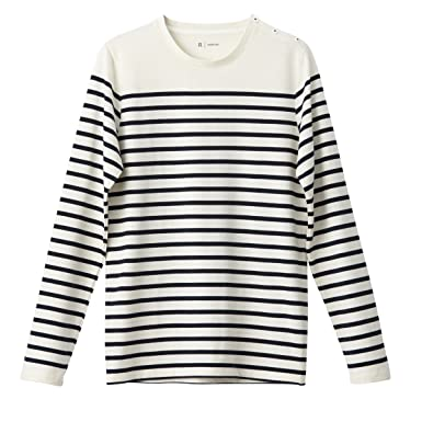 053ea91638eda7 La Redoute Collections Mens Breton Striped Cotton T-Shirt at Amazon ...