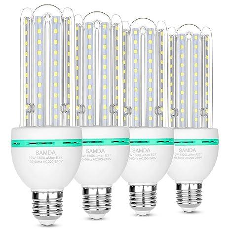 Bombillas LED E27, 16W equivalente de 120 vatios,luz blanca fría 6000K, 360