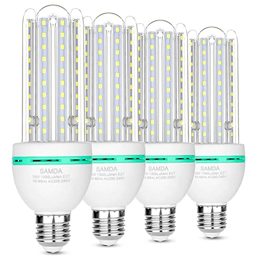 Bombillas LED E27, 16W equivalente de 120 vatios,luz blanca fría ...