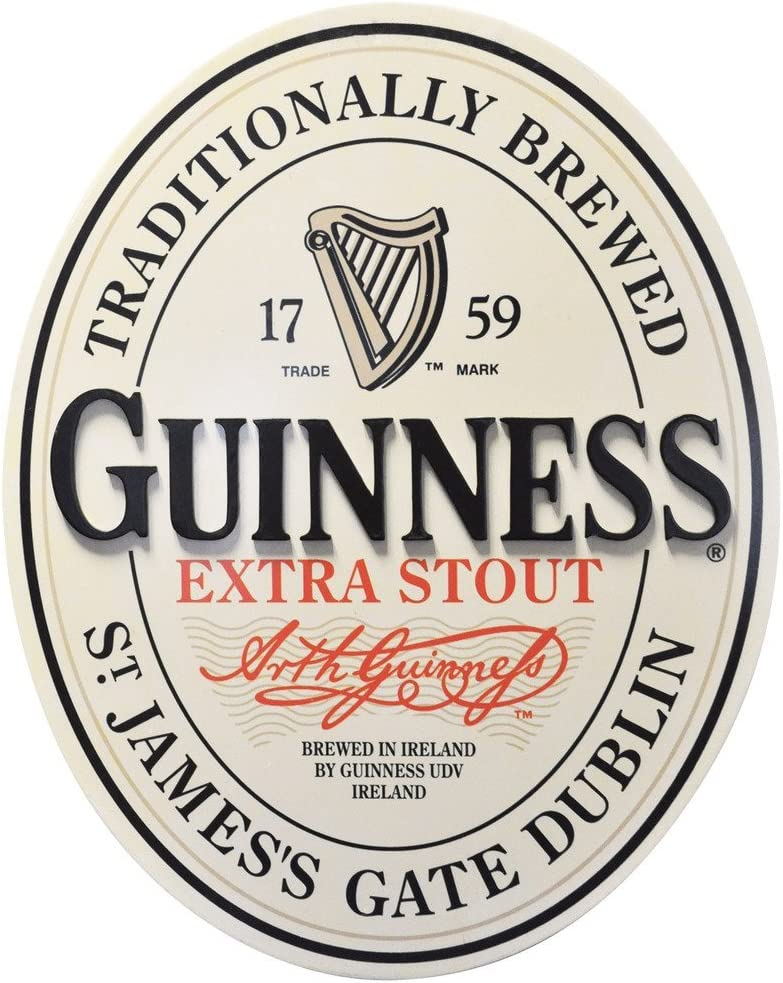 Guinness Traditional St James Gate Dublin Ireland Label Wall Art