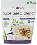 Nutiva Organic, non-GMO, Sustainably Farmed Chia, Flax, and Hemp Superseed Blend, 32-Ounces