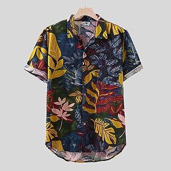 Berimaterry Funky Camisa Señores Manga Corta Bolsillo Delantero Impresión de Hawaii Playa Hawaiana para Hombre Casual Camisas Verano Unisex 3D Estampada Funny Shirt Raya Bohemia: Amazon.es: Ropa y accesorios