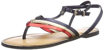 950213eb6ce Tommy Hilfiger Women  s Corporate Flat T-bar Sandal  Amazon.co.uk ...