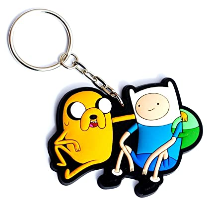 Hot Properties Adventure Time Finn and Jake 3-d Rubber Keychain
