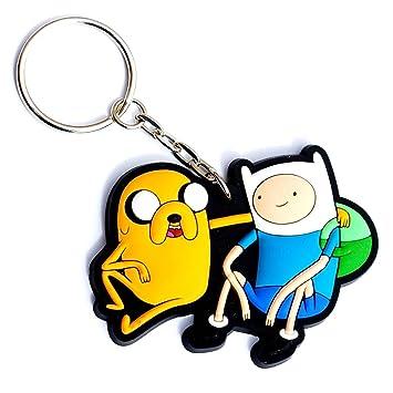 Hora De Aventuras Finn y Jake Llavero de goma: Amazon.es ...