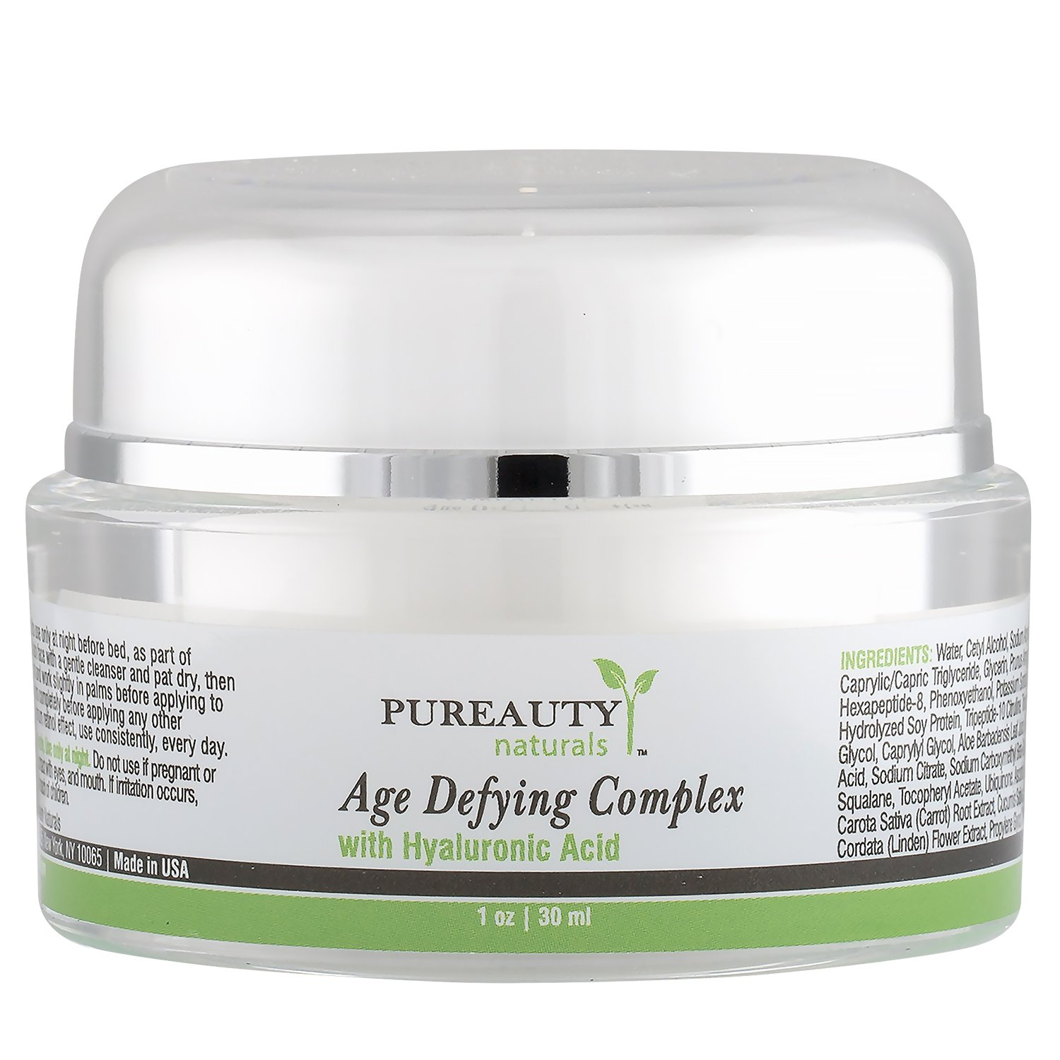 Anti Aging Cream Hyaluronic Acid and Retinol Powered Moisturizer To Help Reduce Wrinkles, Tighten and Hydrate Your Skin for Face and Neck by Pureauty Naturals by Pureauty Naturals