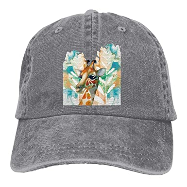 Acuarela Jirafa Retro Ajustable Vaquero Sombrero de Mezclilla ...