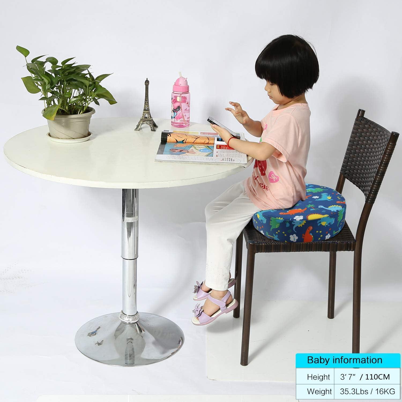 Coussin de Si/ège R/éhausseur Chaise Enfant en Mousse Portable Anti Glisse Confortable pour B/éb/é Infantile Repas Table