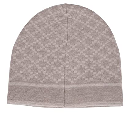 3818119d36e Amazon.com  Gucci Unisex Beige Wool Diamante Beanie Hat 281600 9878   Clothing