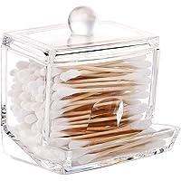 Drawihi Caja de Algodón Bastoncillos de algodón Organizador