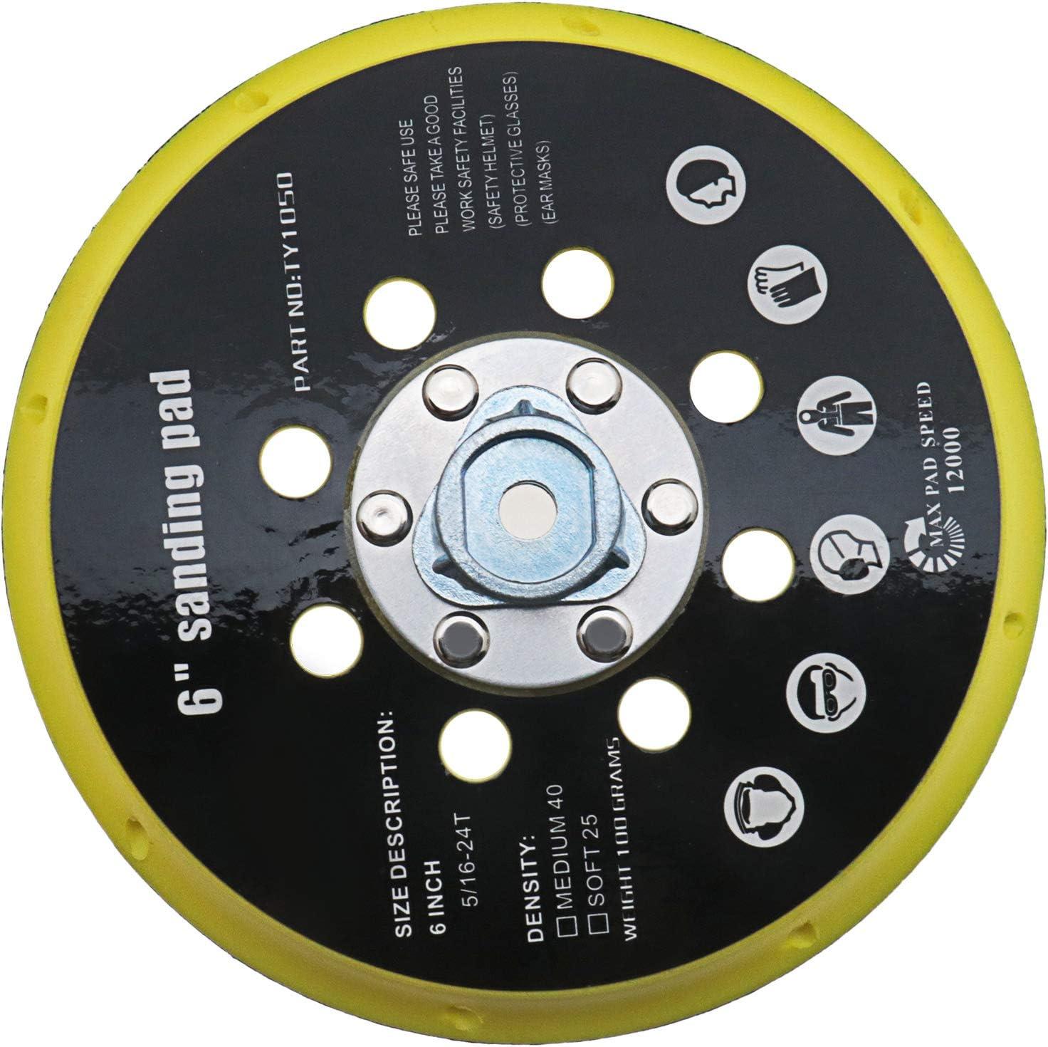 Base de lijadora de 6 pulgadas, soporte de pulido de lijado, 150 mm, 17 agujeros, sello de repuesto compatible con RO1 ES150 ET2 BO6030 BO6040
