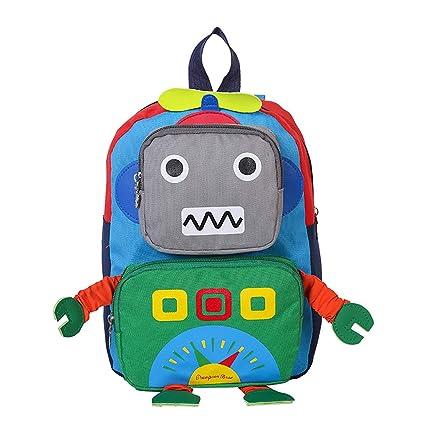Mochila Para Niños Robot 3D De Dibujos Animados Mochila De Guardería Para Niños De 3-