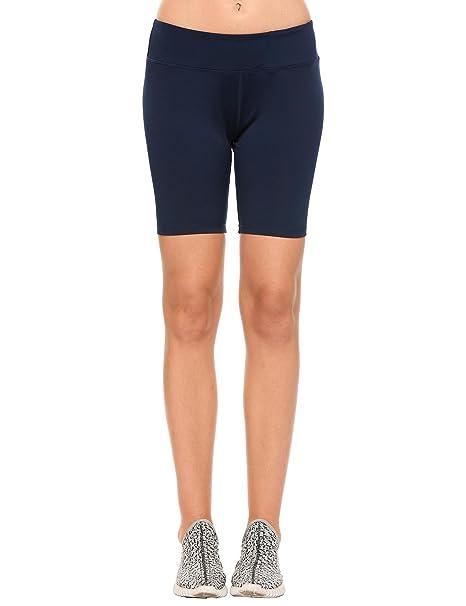 Damen Schwarz Badeshorts Lange Schwimmshorts Strand Bikinihose Yoga Shorts