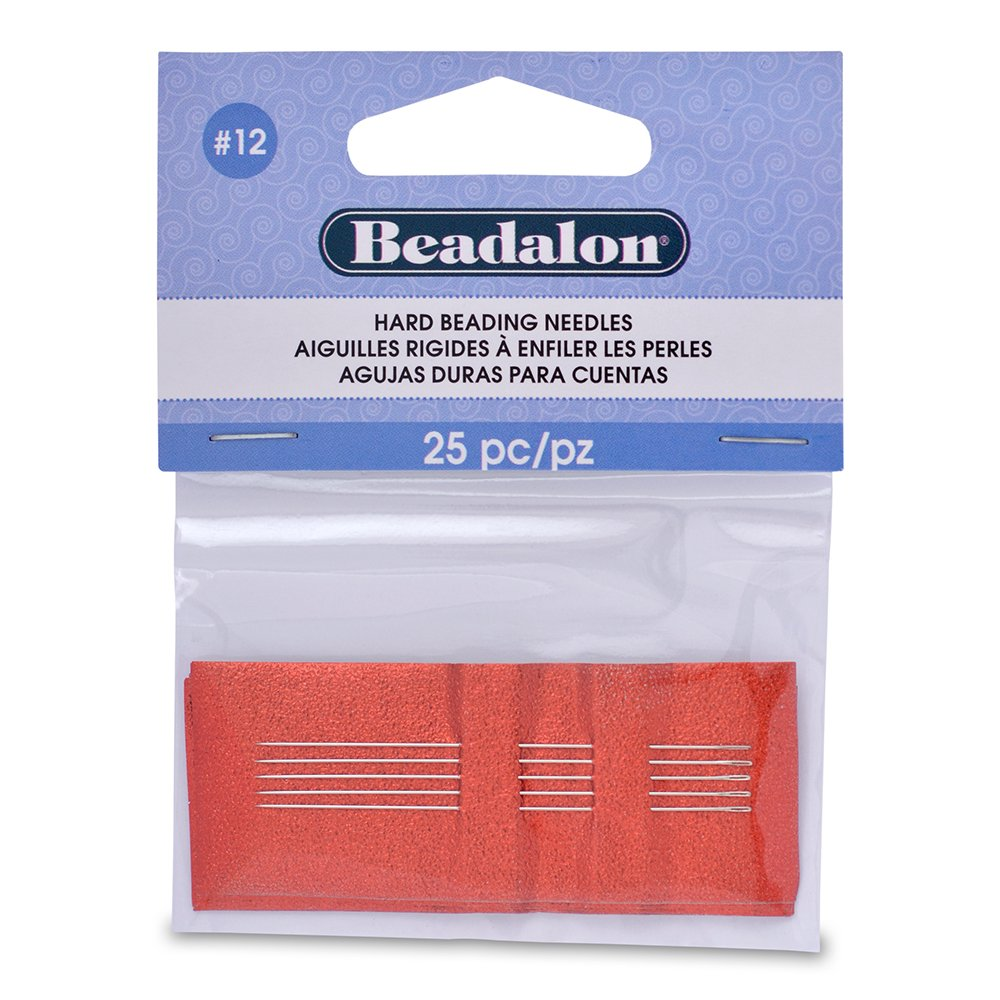 Beadalon #12 25-Piece Hard Beading Needles JNEEH12/25