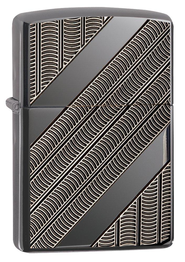 Zippo Armor Coils Pocket Lighter, black Ice