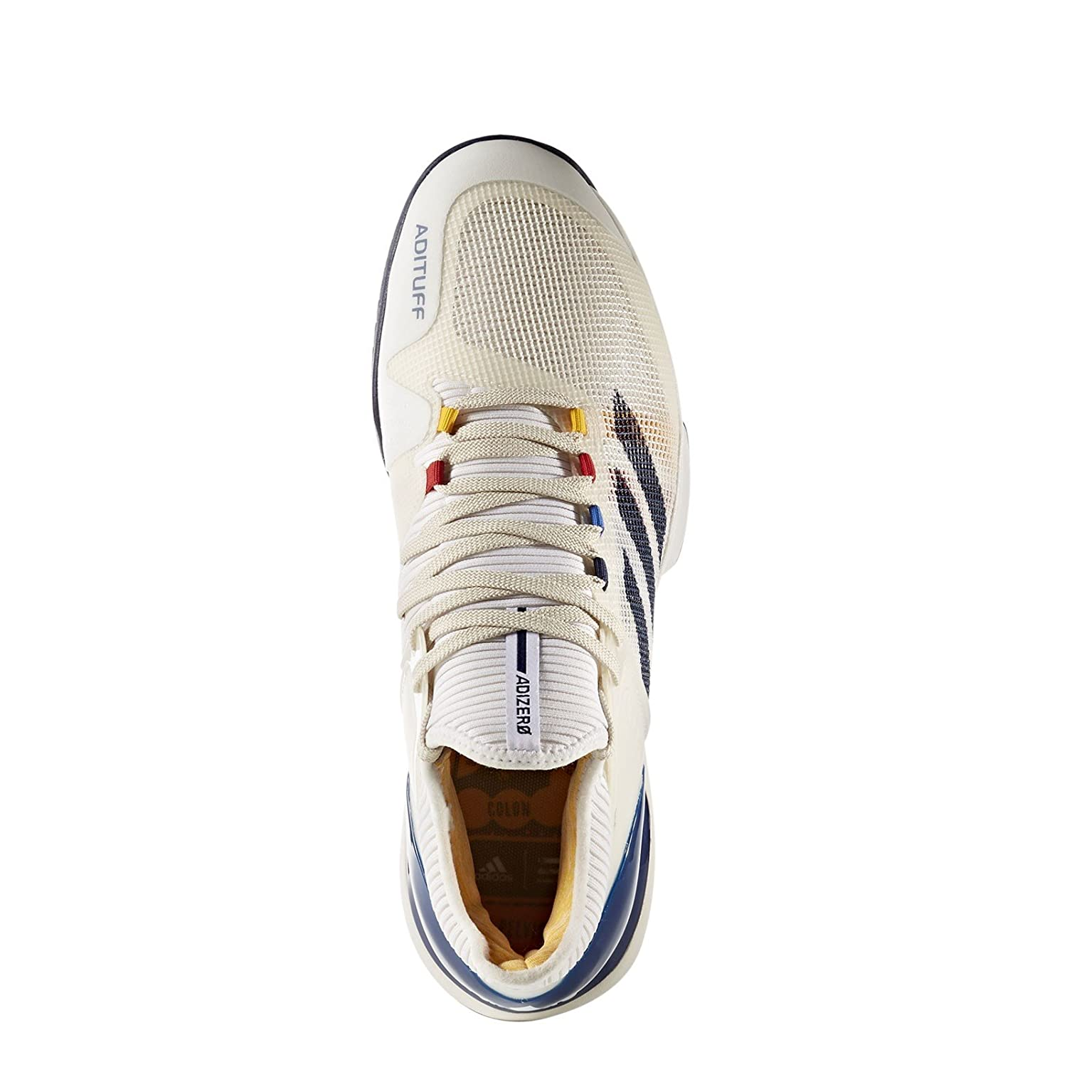 36b67618b adidas x Pharrell Williams Men Adizero Ubersonic 2 white chalk white dark  blue scarlet Size 6.5 US  Amazon.co.uk  Sports   Outdoors