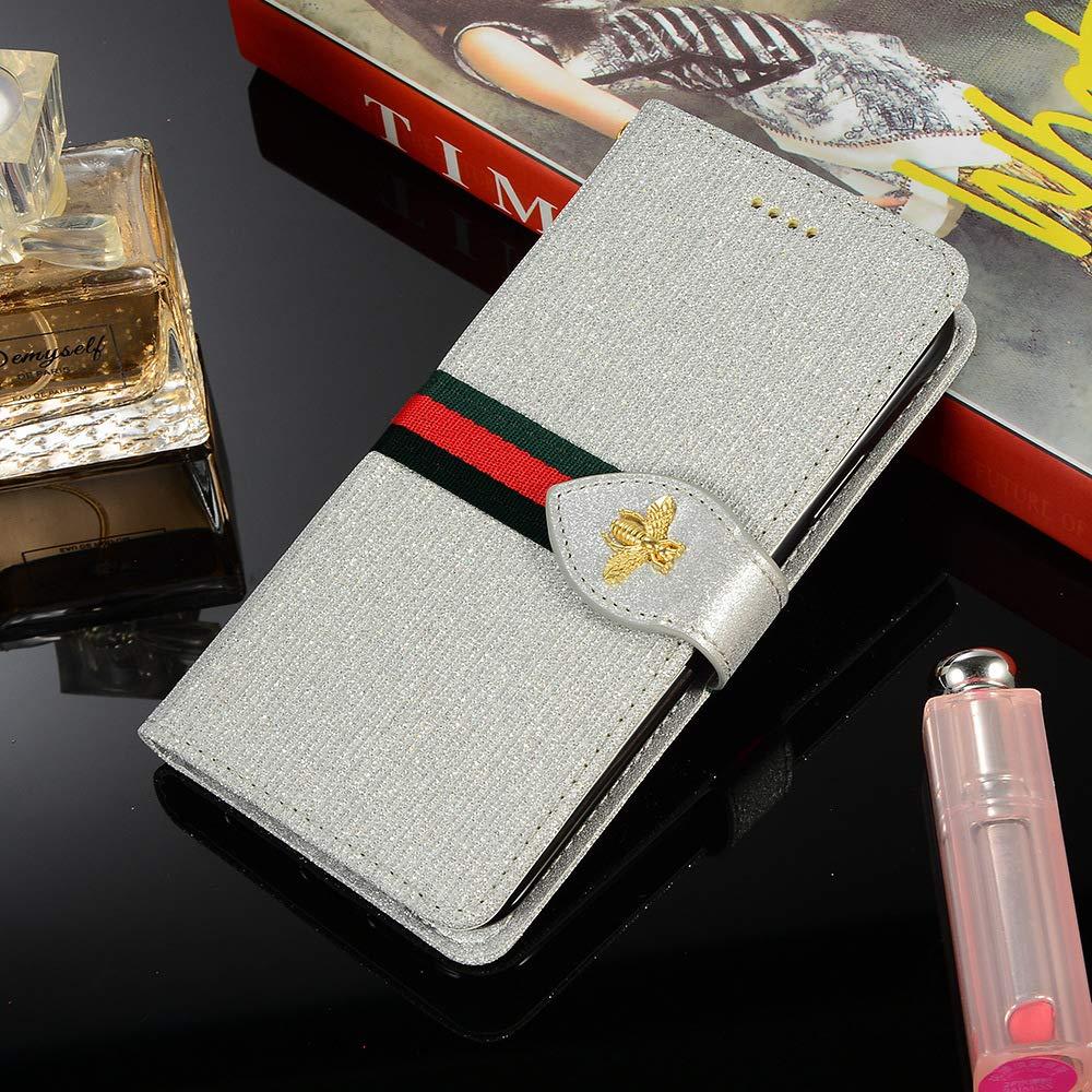 Kompatibel mit iPhone X//XS Bling Glitter Handyh/ülle Bunte Ledertasche Flip Wallet Schutzh/ülle Etui Tasche Handytasche H/ülle Brieftasche Bookstyle H/ülle Lederh/ülle Klapph/ülle